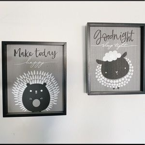 Black and White Nursery Artwork